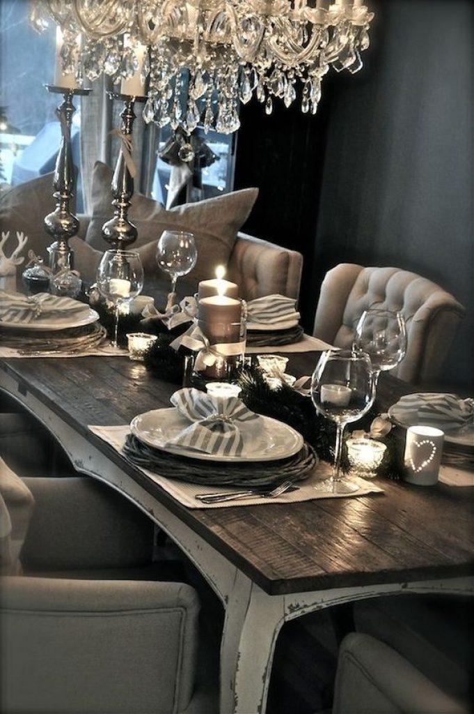 dark rustic glam table