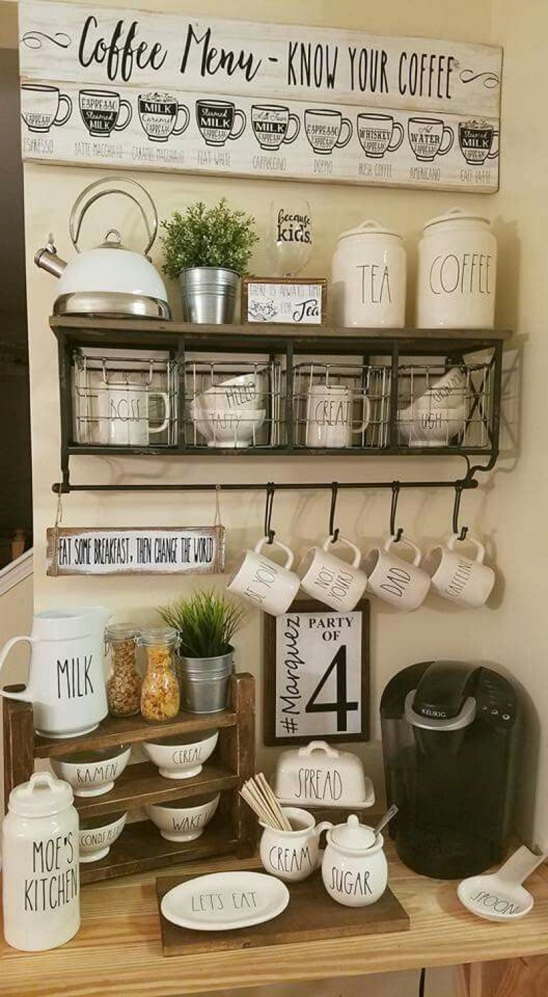 Farmhouse Coffee Bar - RusticDaydreams.com