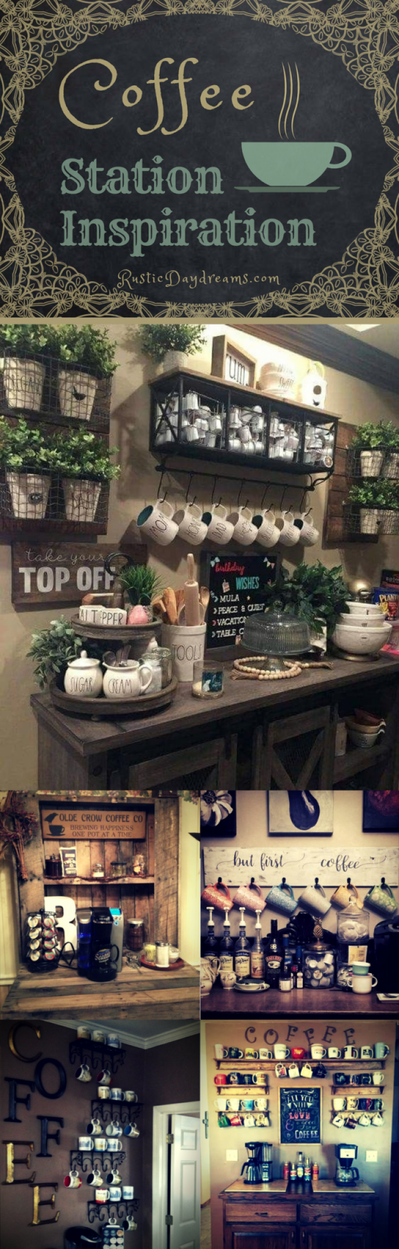 RusticDaydreams.com-Coffee Station Inspiration