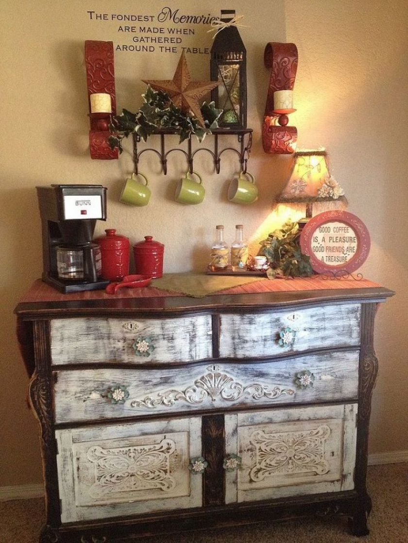 Buffet Transformed to Coffee Bar-Hometalk