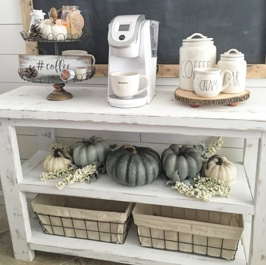 fall coffe bar station